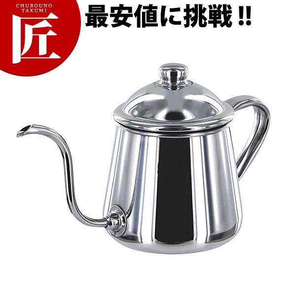 コーヒードリップポット雫0.5L【ctss】コーヒーポット 細口 ステンレス ドリップ 業務用 ステンレスコーヒーポット 領収書対応可能