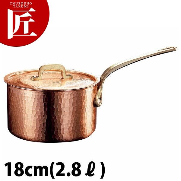 新鎚器銅器 深型 片手鍋 18cm 片手鍋 銅 業務用 【ctss】