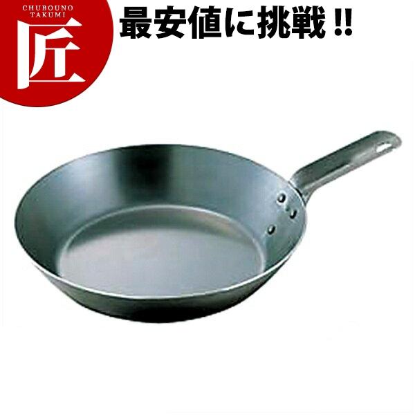 鉄短柄フライパン 42cm 向い取手 IH対応 鉄【ctss】