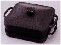 岩鋳 スクエアパン浅型鍋・深型鍋セット(焼付)電磁調理器対応