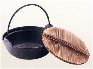 池永鉄工 S鉄鍋 木蓋付 30