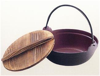 池永鉄工 深型鍋 木蓋付 30