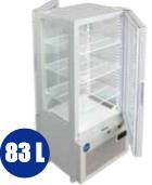 JCM 4面ガラス冷蔵ショーケース(両面扉タイプ) 83L JCMS-83W 代金引換・時間帯指定不可