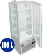 JCM 4面ガラス冷蔵ショーケース(両面扉タイプ) 103L JCMS-103W 代金引換・時間帯指定不可