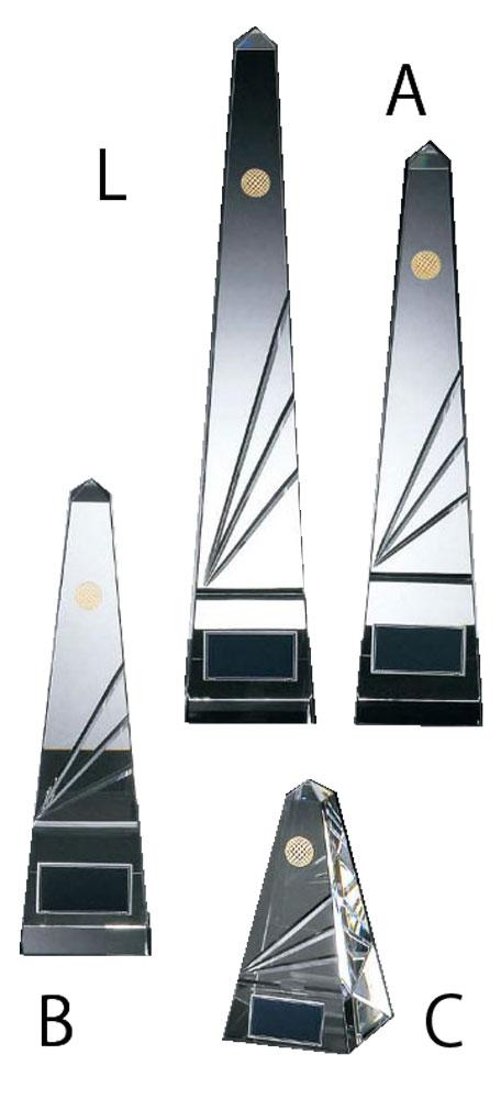 ゴルフ クリスタルトロフィー[KT-2366]Aサイズ 31cm