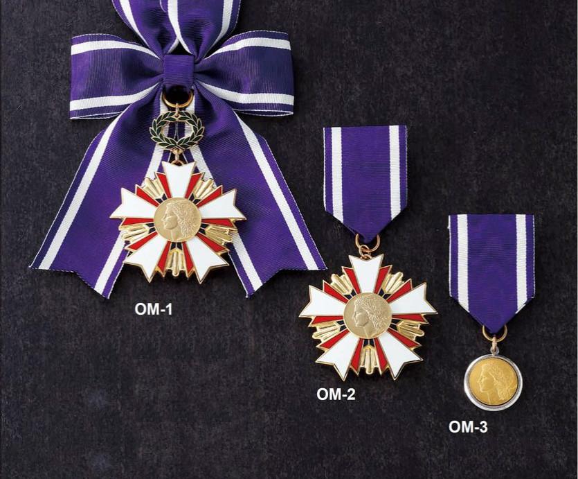 レリーフ式勲章型メダル[OM-1]直径60mm