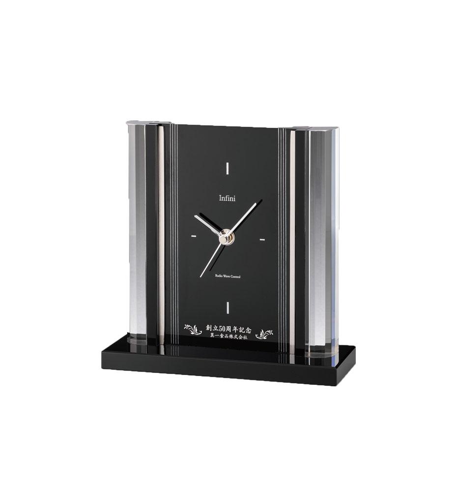 オーダー品[L319-1] クリスタル電波時計 20.5cm×20.4cm