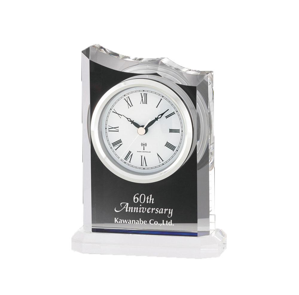 オーダー品[L319-3] クリスタル電波時計 17.8cm×13cm
