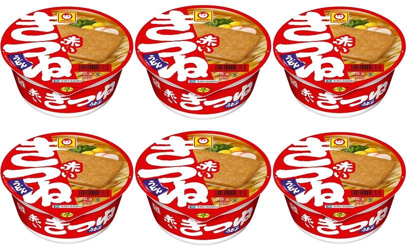 6個セット セットアップ 東洋水産 マルちゃん (人気激安) 赤いきつねうどん 西日本向け 西向け ご当地うどん 地域限定 4901990527866