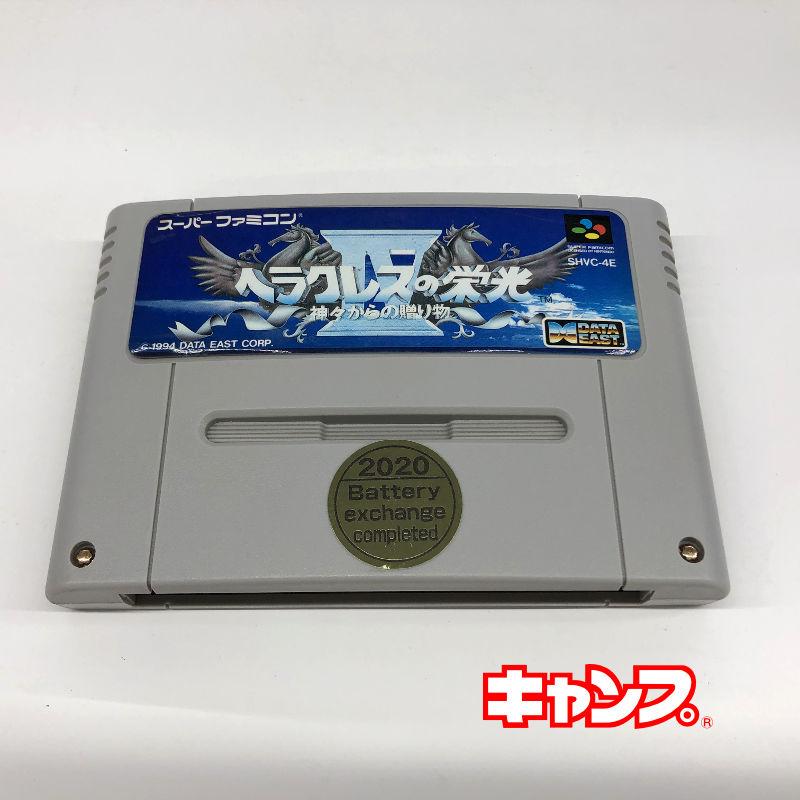 レトロゲーム スーパーファミコン プレゼント ヘラクレスの栄光4-神々からの贈り物- 中古 良い-RE0001081 保障
