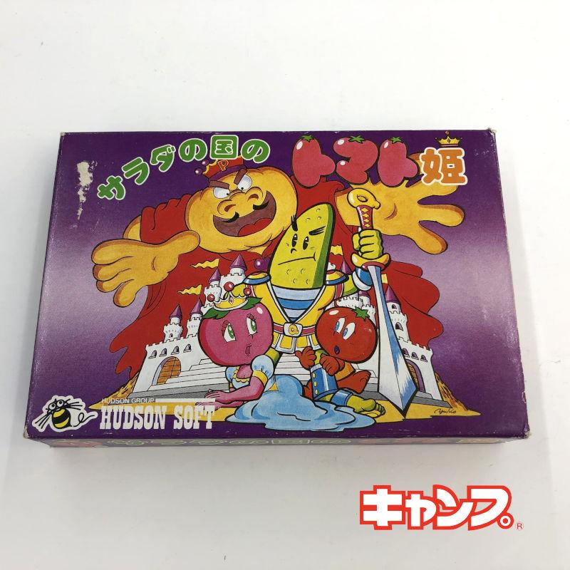 格安SALEスタート レトロゲーム ファミコン 箱説あり サラダの国のトマト姫 日本 中古 良い-RE0001181