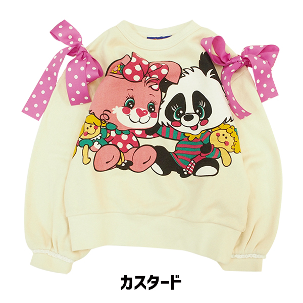 3821031bc9b9 ☆It is children's clothes panda rabbit ribbon adult size in the gift  present fall and ...