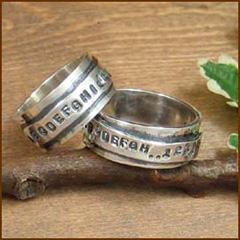 【送料無料♪】世界にひとつの完全オーダーリングONLY ONE☆Double Plates Ring*