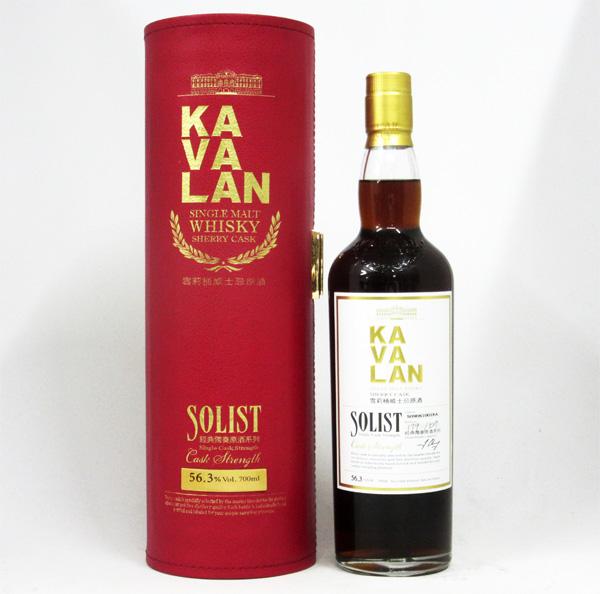 KAVALAN(カバラン) ソリスト シェリーカスク カスクストレングス 56.3度 700ml 正規品 (専用BOX入)