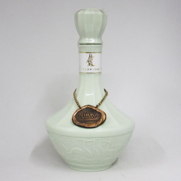 【レトロ:特級表示】ニッカウヰスキー 竹鶴 青磁陶器 43度 760ml (箱なし)