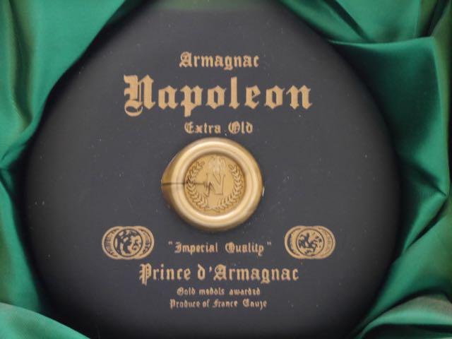 프린스・드・armagnac・나폴레옹 엑스트라 올드 40도 700 ml 바꾸어 마개 첨부(전용 화장 도구 상자들이)