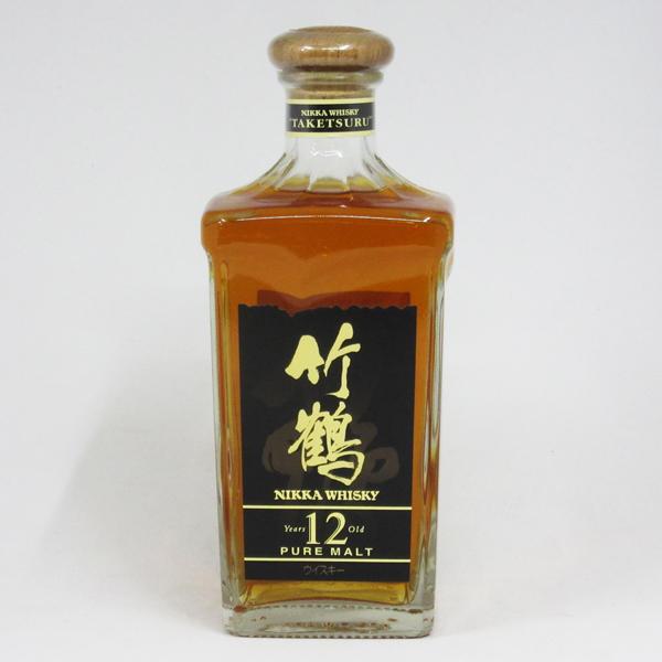 【レトロ】竹鶴 12年 角瓶 ブラックラベル 40度 660ml (箱なし)