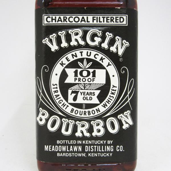 750 ml of virgin bourbon seven years 50.5 degrees regular article