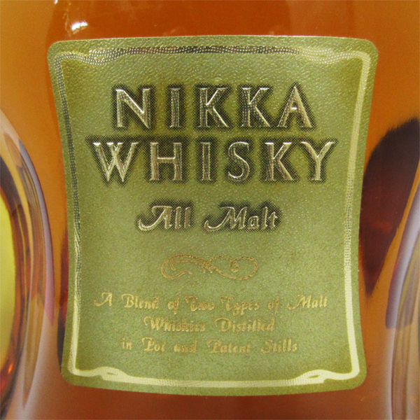 750 ml of Nikka whiskey All Malt oar malt 43 degrees