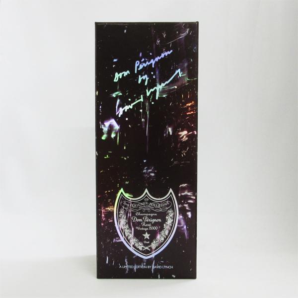 【レトロ】ドンペリニヨン ロゼ 2000年 デヴィット・リンチ 750ml 正規品 (ギフトパッケージ入り)