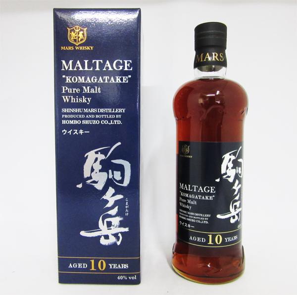 モルテージ・駒ヶ岳 ピュアモルトウイスキー 10年 40度 750ml (専用BOX入り)