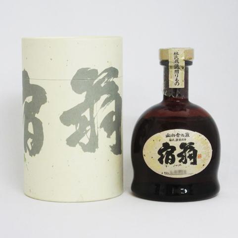 【レトロ】万膳酒造 宿扇 三回忌 吟香黄麹 43度 720ml (専用BOX入り)