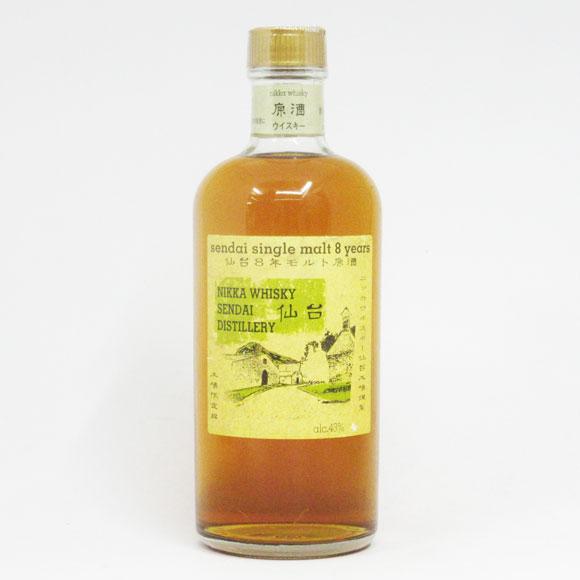 【レトロ:イエローラベル】ニッカウヰスキー 仙台8年モルト原酒 43度 500ml