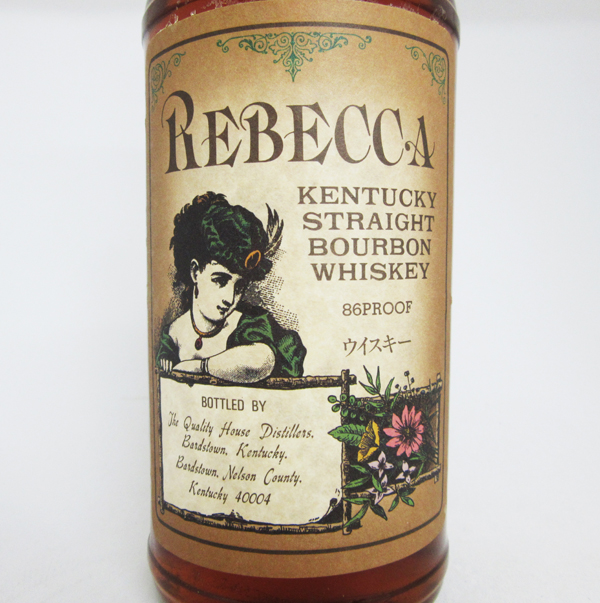 700 ml of Kentucky straight bourbon Rebecca ten years 43 degrees