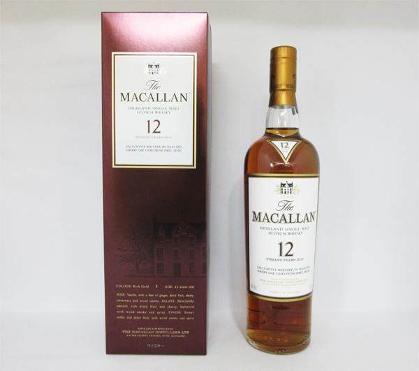 マッカラン 12年 シェリーオーク 40度 700ml (専用ギフトパック入) 【正規品】シングルモルト スコッチ ウイスキー