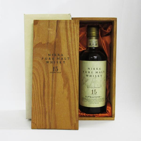 【レトロ】ニッカ ピュアモルトウイスキー 北原酒 15年 43度 750ml (専用木箱付き)