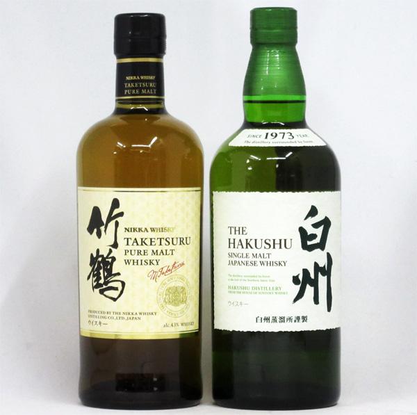 【毎日16時まで即日発送】 竹鶴 白ラベル/白州 NV 700ml (箱なし) 2本飲み比べセット