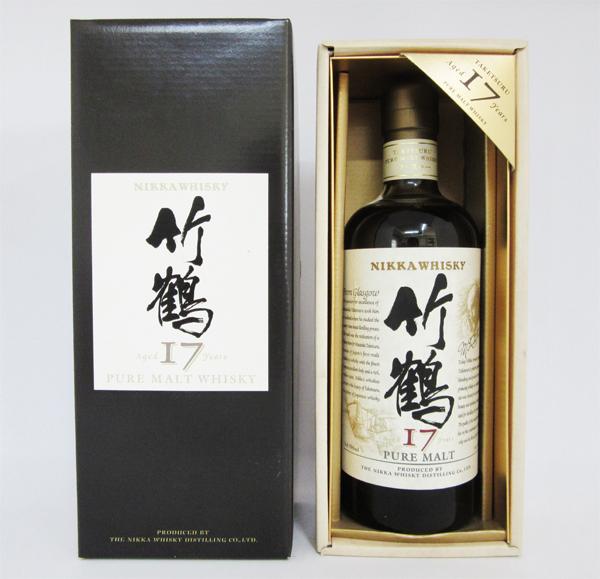 【旧ボトル】アサヒ ニッカ ウイスキー 竹鶴 17年 ピュアモルト 43度 700ml (専用化粧箱入)