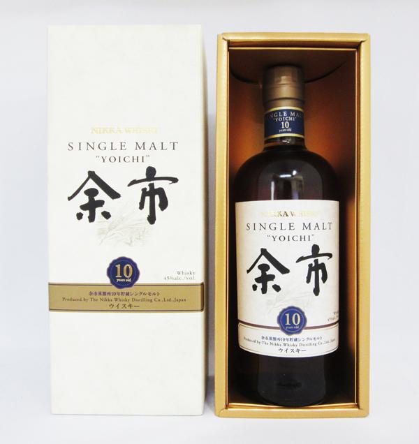 アサヒ ニッカ シングルモルト ウイスキー 余市 10年 45度 700ml (専用化粧箱入)