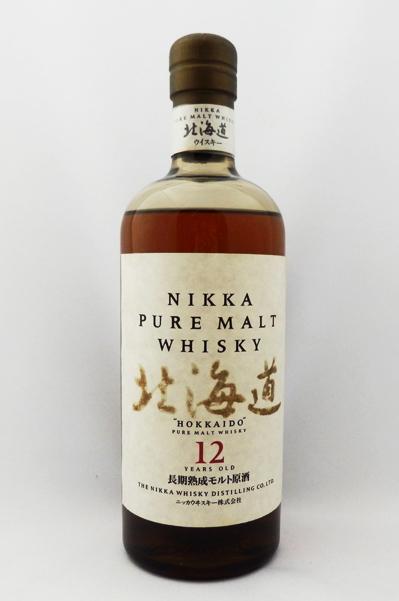 【レトロ】ニッカピュアモルトウイスキー 北海道 12年 長期熟成モルト原酒 43度 750ml (箱なし)