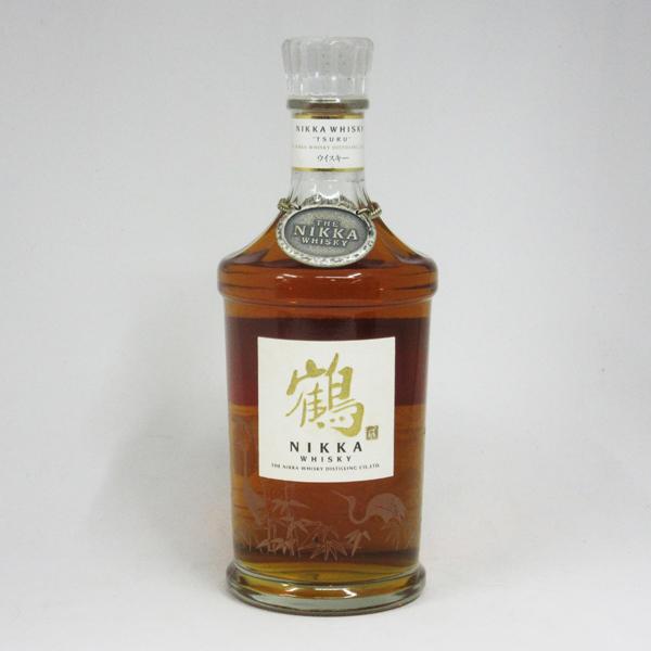 【レトロ:スリムボトル】鶴 透明瓶 43度 700ml (箱なし) ニッカウヰスキー