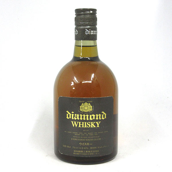 【レトロ:希少】ダイヤモンド・ウイスキー 43度 700ml (箱なし)