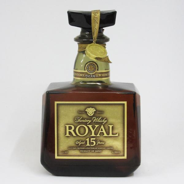 【レトロ】サントリーウイスキー 750ml ゴールドラベル 43度 ローヤル15年 (箱なし)