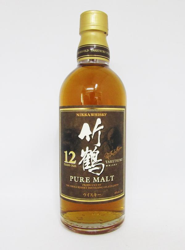 【終売品:希少な500mlサイズ】竹鶴 12年 丸瓶 40度 500ml (箱なし)