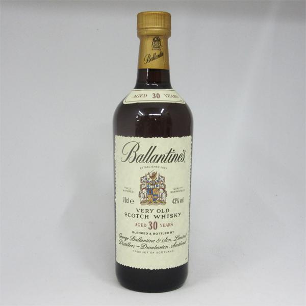【レトロ】バランタイン 30年 43度 700ml 正規品 (箱なし)