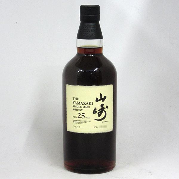 【レトロ】サントリー シングルモルトウイスキー 山崎 25年 43度 700ml (箱なし)