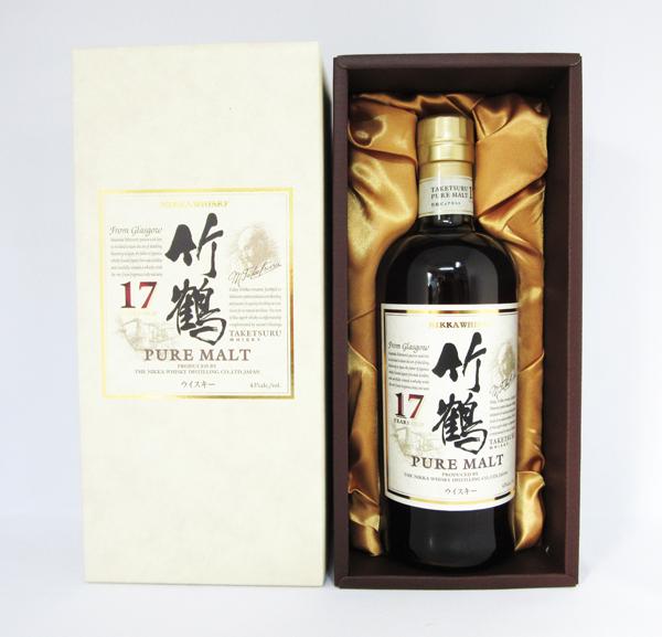 アサヒ ニッカ ウイスキー 竹鶴 17年 ピュアモルト 700ml (専用化粧箱入)