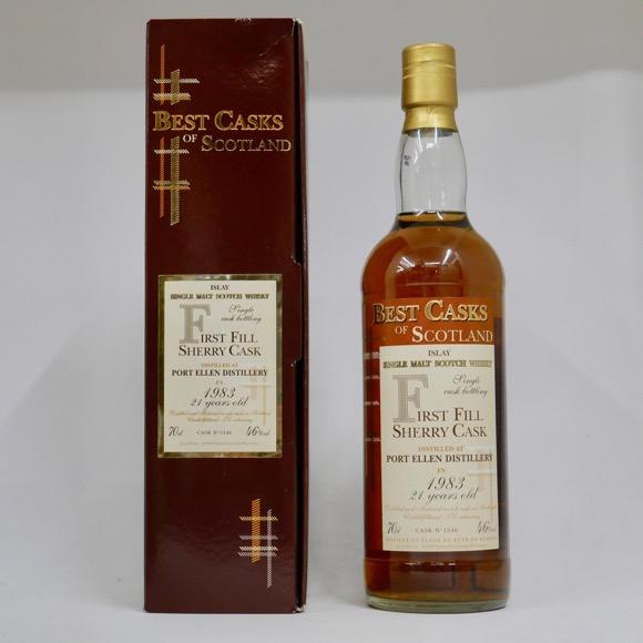 【レトロ】【BEST CASKS OF SCOTLAND】ポートエレン 21年 1983-2004 ファーストフィル・シェリーカスク 46度 700ml (専用BOX入り)