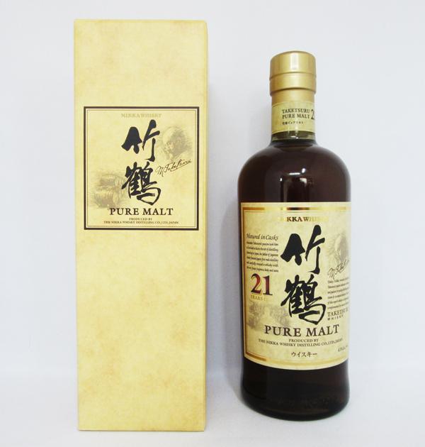 アサヒ ニッカ ウイスキー 竹鶴 21年 ピュアモルト 700ml (専用BOX入)
