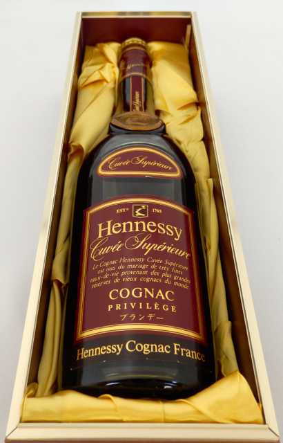 Hennessy cuvee Superieur initial bottle 700 ml genuine (private wooden box set)
