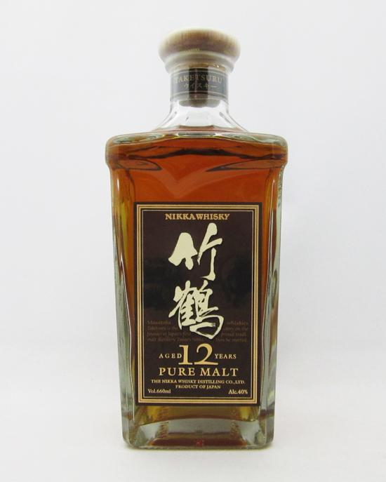 【レトロ】竹鶴 12年 角瓶 40度 660ml (ブラウンラベル:箱なし)