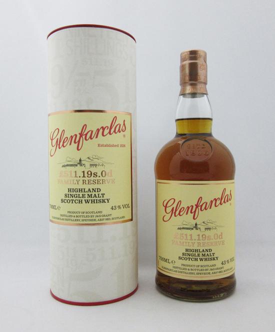 グレンファークラス ファミリーリザーブ 150周年記念ボトル _511.19s.0d 43度 700ml 正規品 (専用BOX入り)