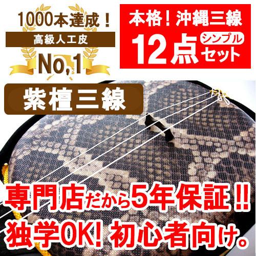 三線 人工 紫檀棹Sセット 【沖縄】20140530