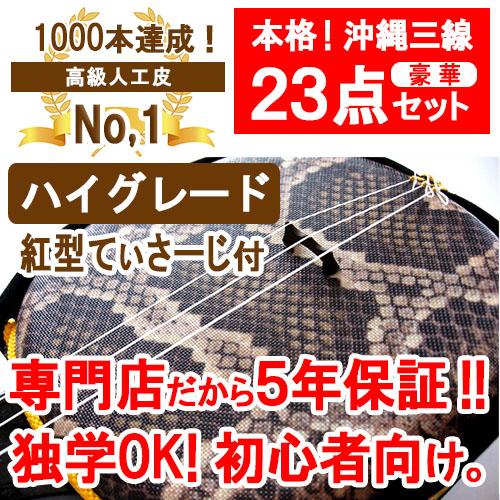 三線 ハイグレードEX初心者応援セットA 【沖縄】20140530