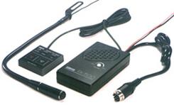 """操作部はベストポジションに""""ペタッ""""フレキシブルマイクはサンバイザーに 送受信切換スイッチはフリーセッティング FX-7500 アドニス 新作続 全店販売中 フリーセッティング型タッチ式電子スイッチ フレキシブル型モービルマイクロホン"""