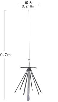 【ラッキーシール対応】 D220R ダイヤモンド モービル用ディスコーンアンテナ (0.7m) 【144・430・904・1200MHz帯送信可能】